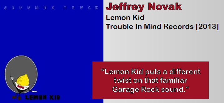 Jeffrey Novak: Lemon Kid [Album Review]