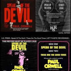 "Paul Orwell: ""Speak Of The Devil"" 7″ (Blood Red Vinyl 