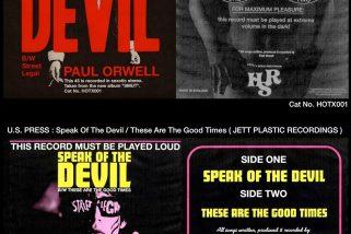 """Paul Orwell: """"Speak Of The Devil"""" 7″ (Blood Red Vinyl   250 Copies)"""