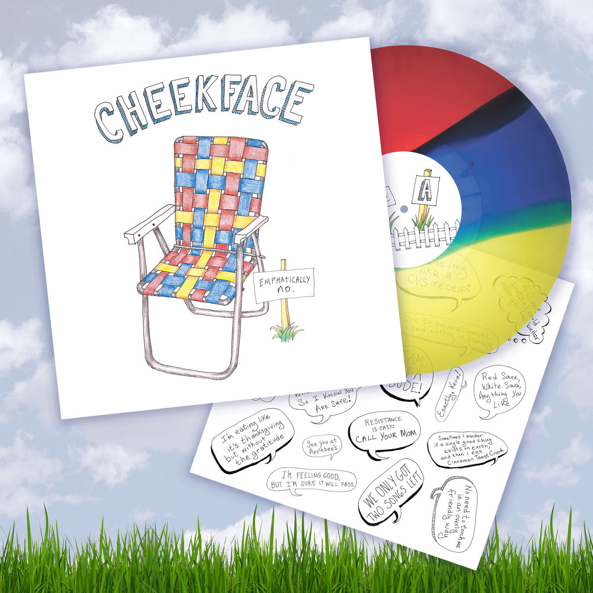 Cheekface: Emphatically No. (Rainbow Wax | 500 Copies)